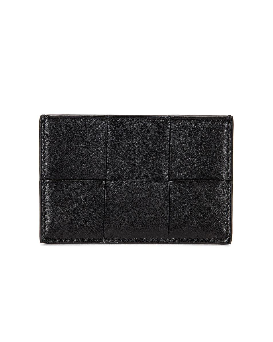 Image 1 of Bottega Veneta Cassette Card Case in Black & Gold