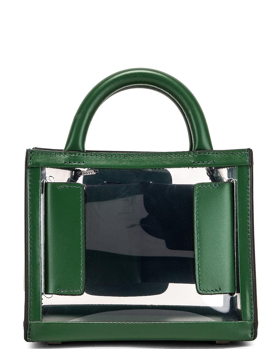 Image 2 of Boyy Bobby 16 Bag in Clear & Leaf