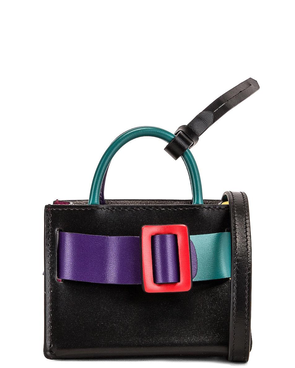 Image 1 of Boyy Bobby Charm Bag in Bright Emerald & Iris
