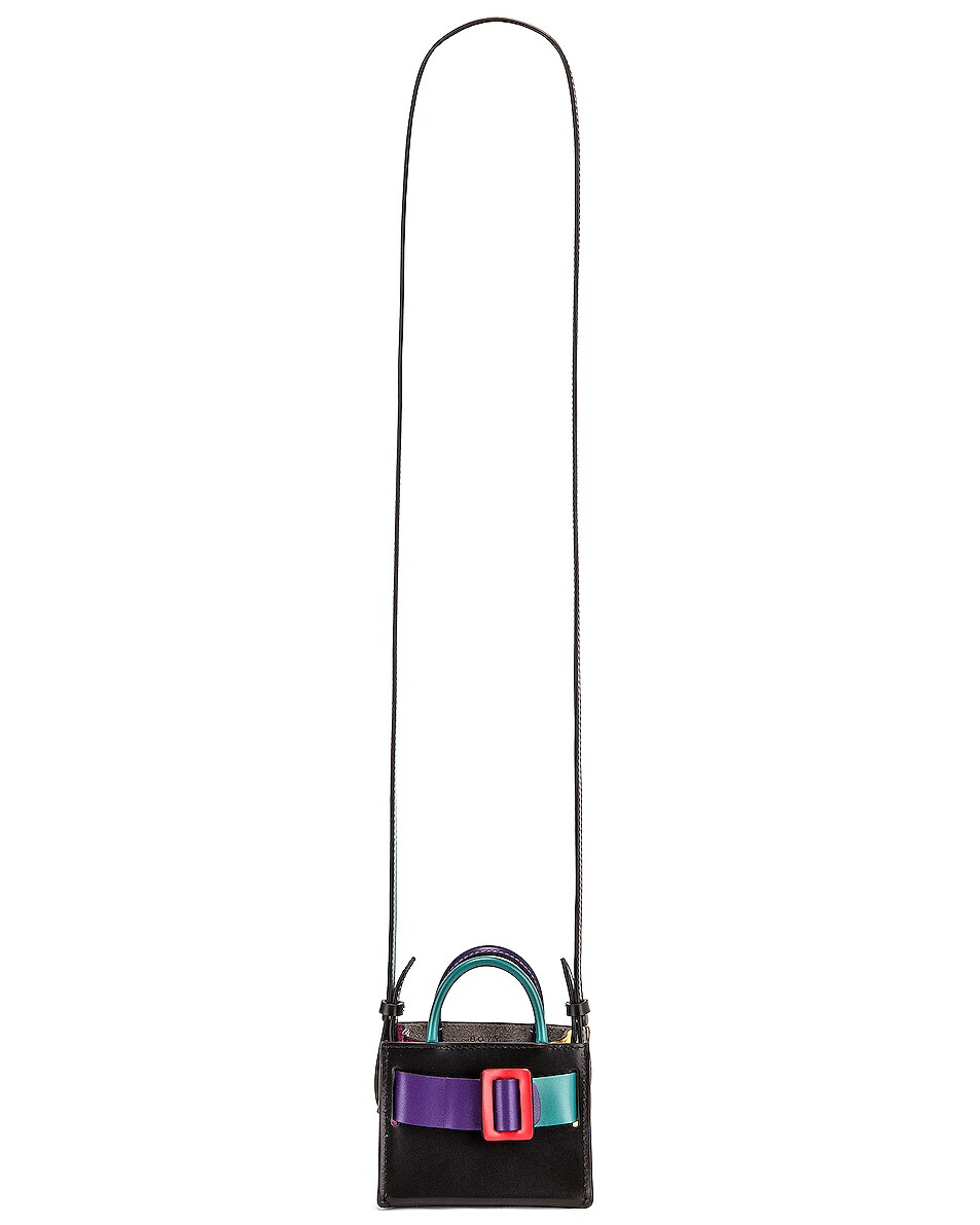 Image 6 of Boyy Bobby Charm Bag in Bright Emerald & Iris