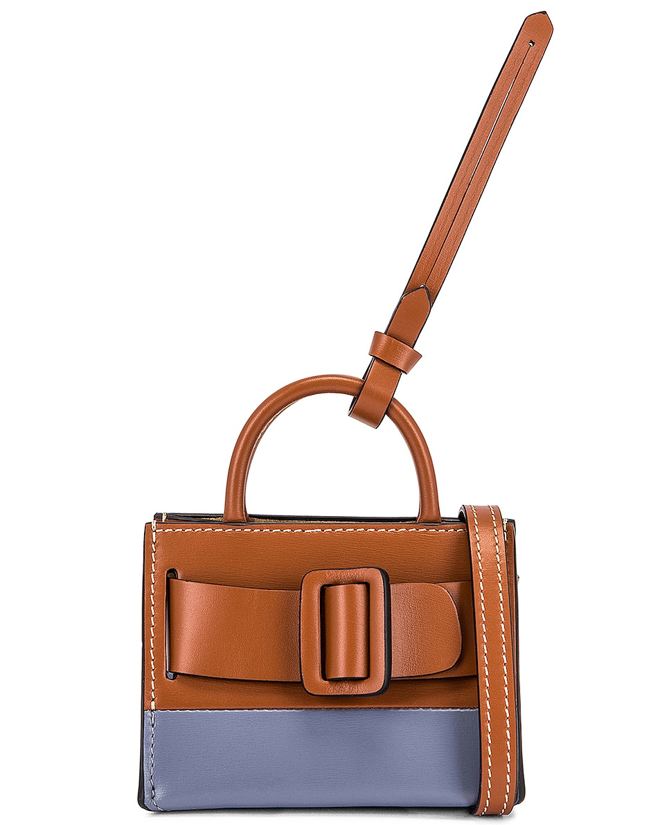Image 1 of Boyy Two-Tone Bobby Charm with Strap in Nocciola & Quicksilver