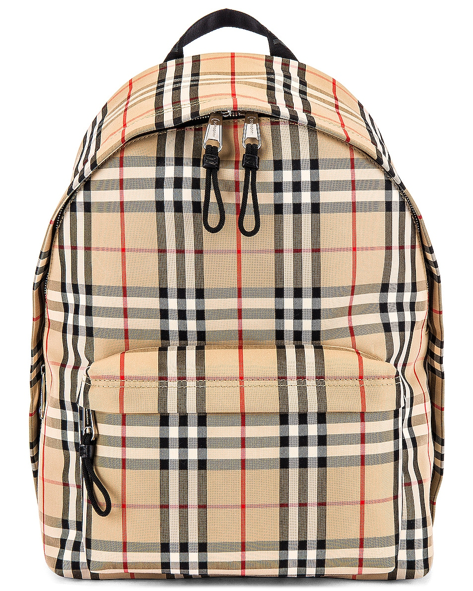 Image 1 of Burberry Jett Backpack in Archive Beige