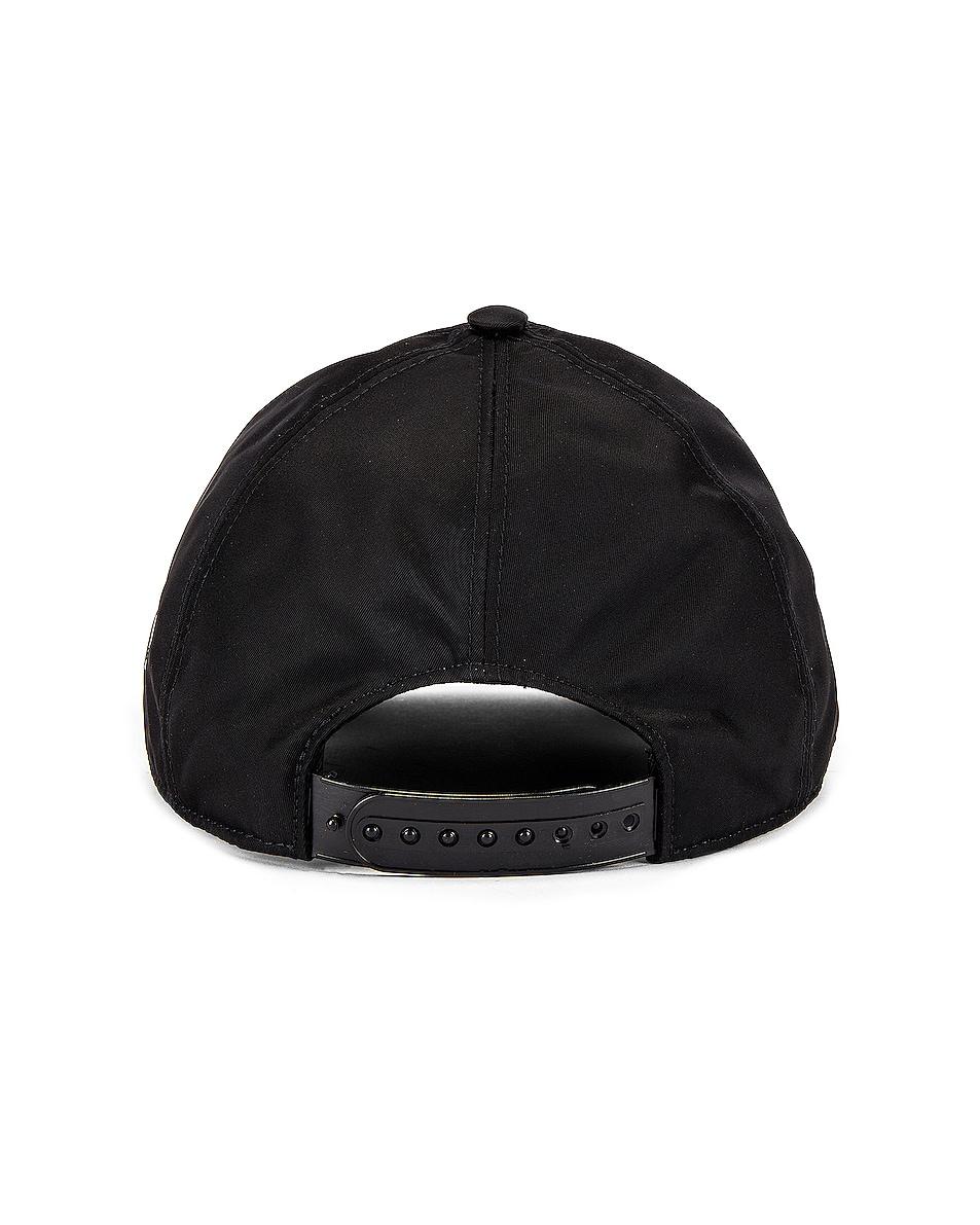 Image 4 of Burberry Printed Baseball Cap in Black