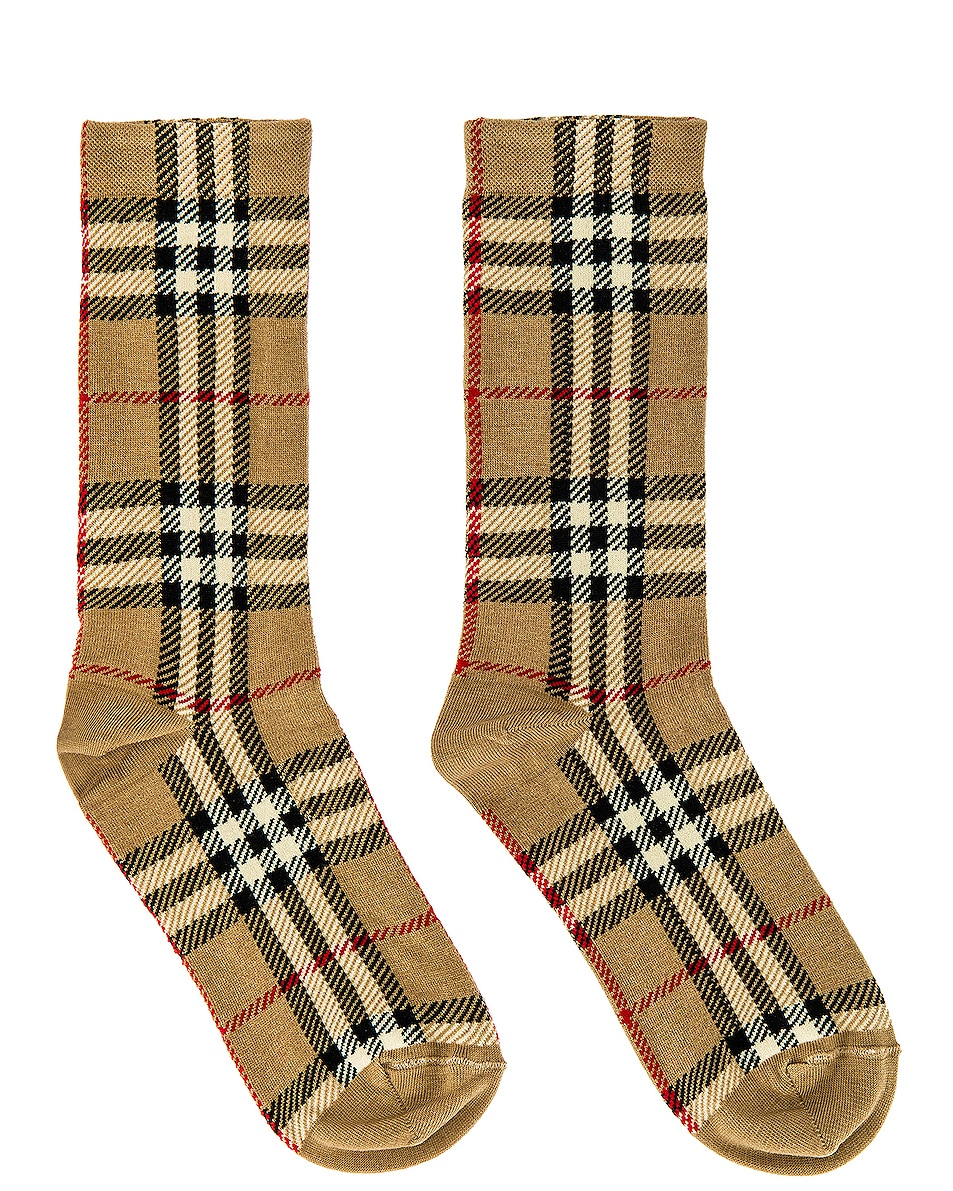 Image 1 of Burberry Socks in Archive Beige