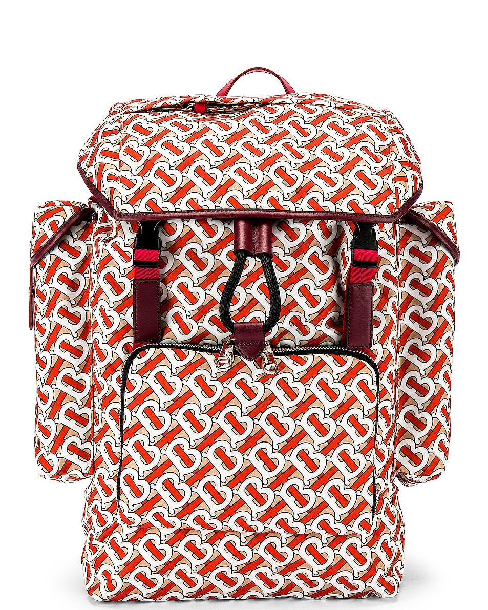 Image 1 of Burberry Ranger Monogram Backpack in Vermilion