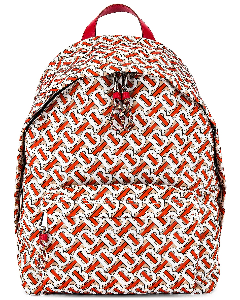 Image 1 of Burberry Jett Monogram Backpack in Vermillion