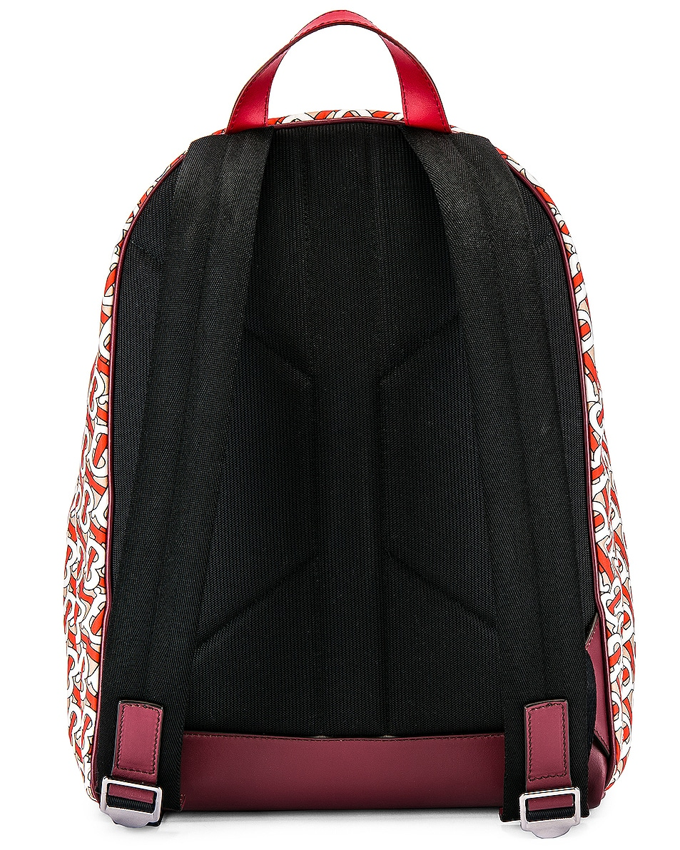Image 2 of Burberry Jett Monogram Backpack in Vermillion
