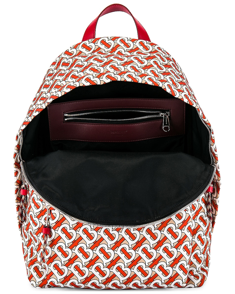 Image 4 of Burberry Jett Monogram Backpack in Vermillion
