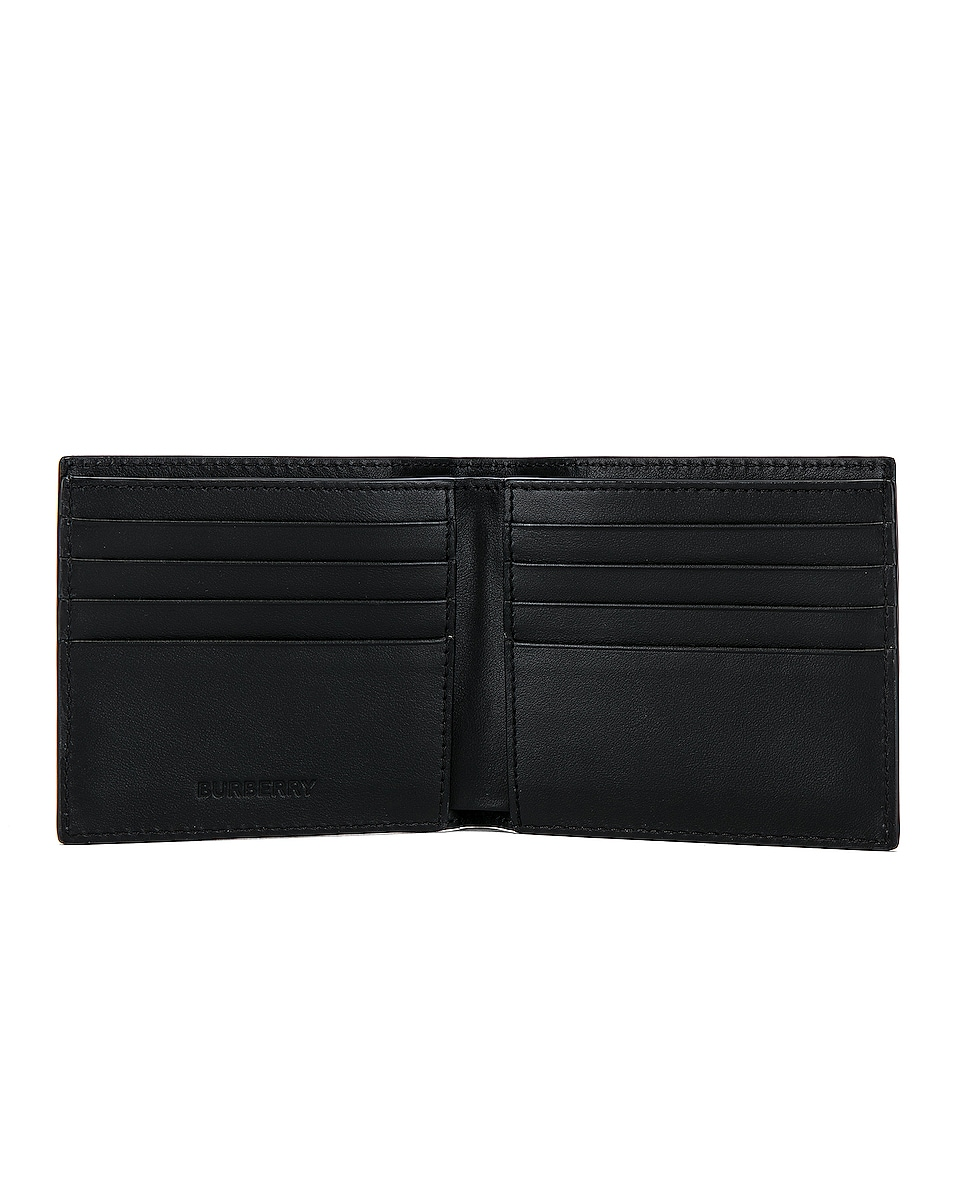 Image 4 of Burberry Billfold Print Wallet in Black