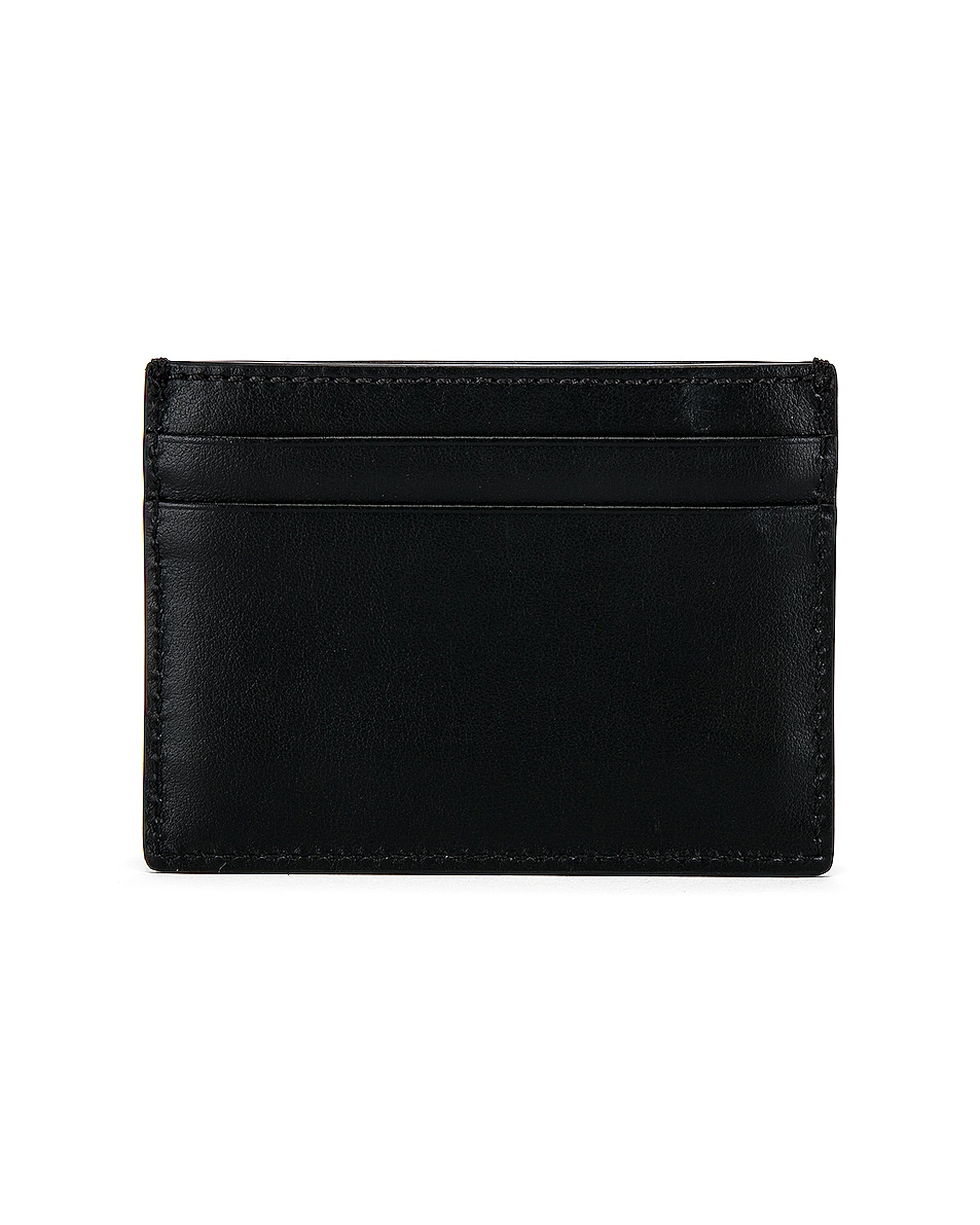 Image 2 of Burberry Sandon Print Card Holder in Black