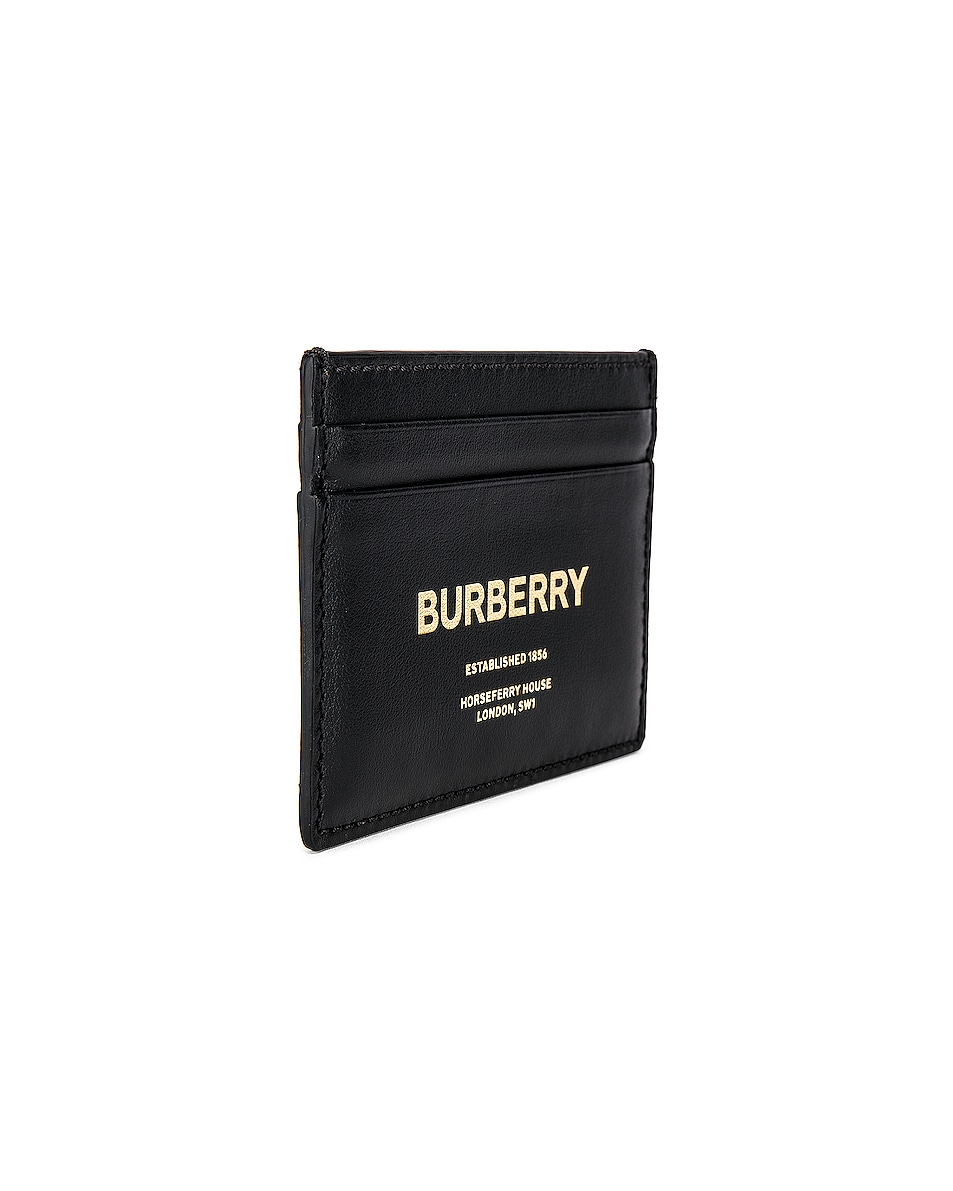 Image 3 of Burberry Sandon Print Card Holder in Black