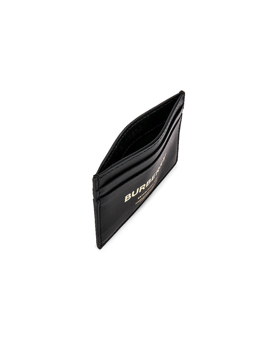 Image 4 of Burberry Sandon Print Card Holder in Black