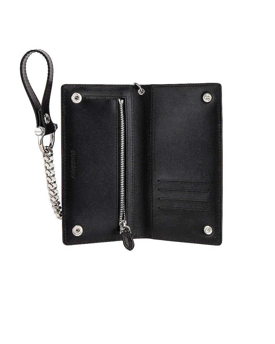 Image 4 of Burberry Printed BLE Leather Wallet in Black