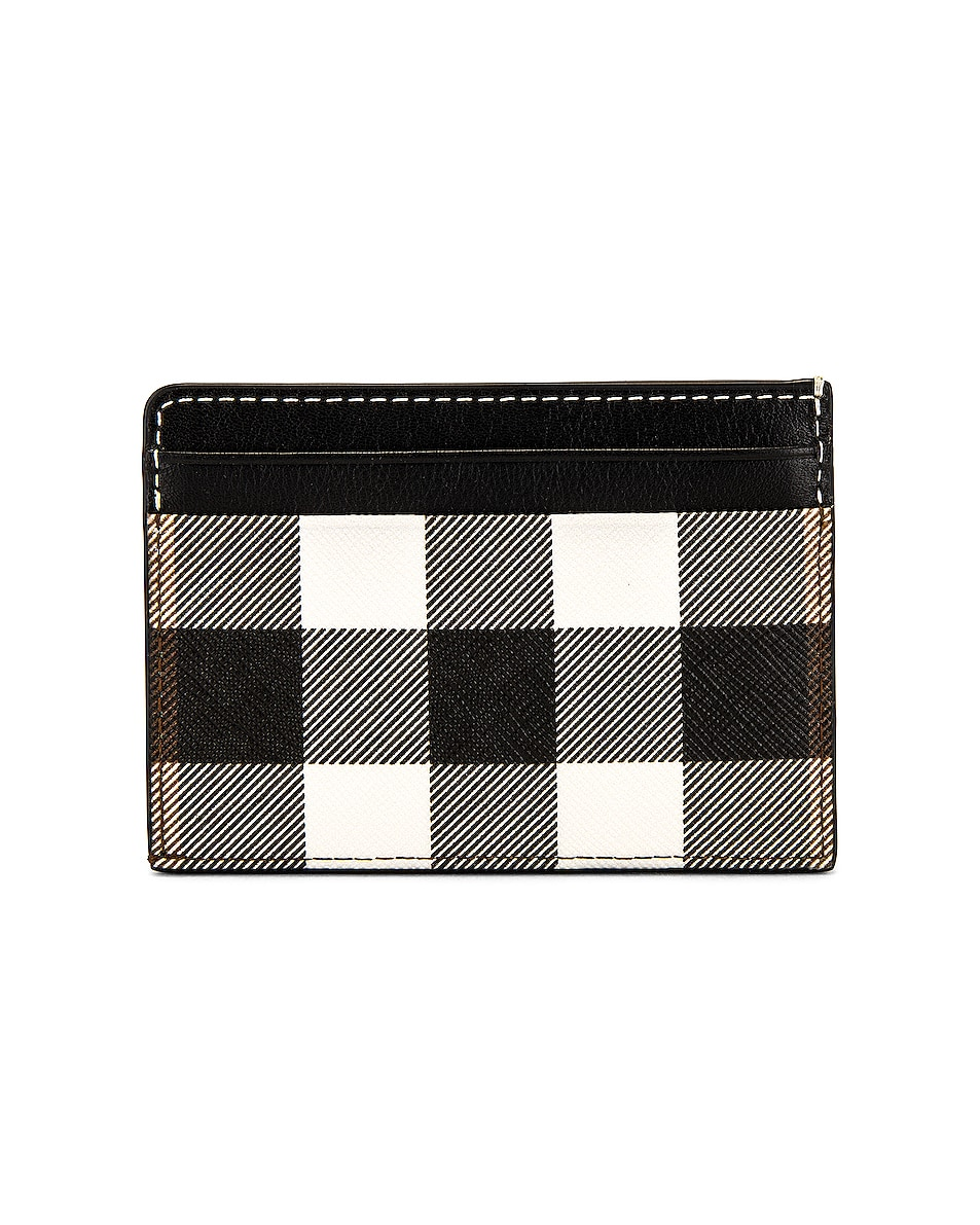Image 2 of Burberry Vintage Check Leather Cardcase in Black
