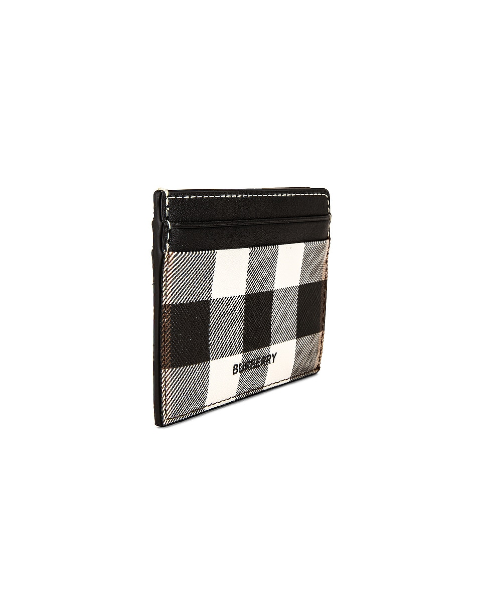 Image 3 of Burberry Vintage Check Leather Cardcase in Black