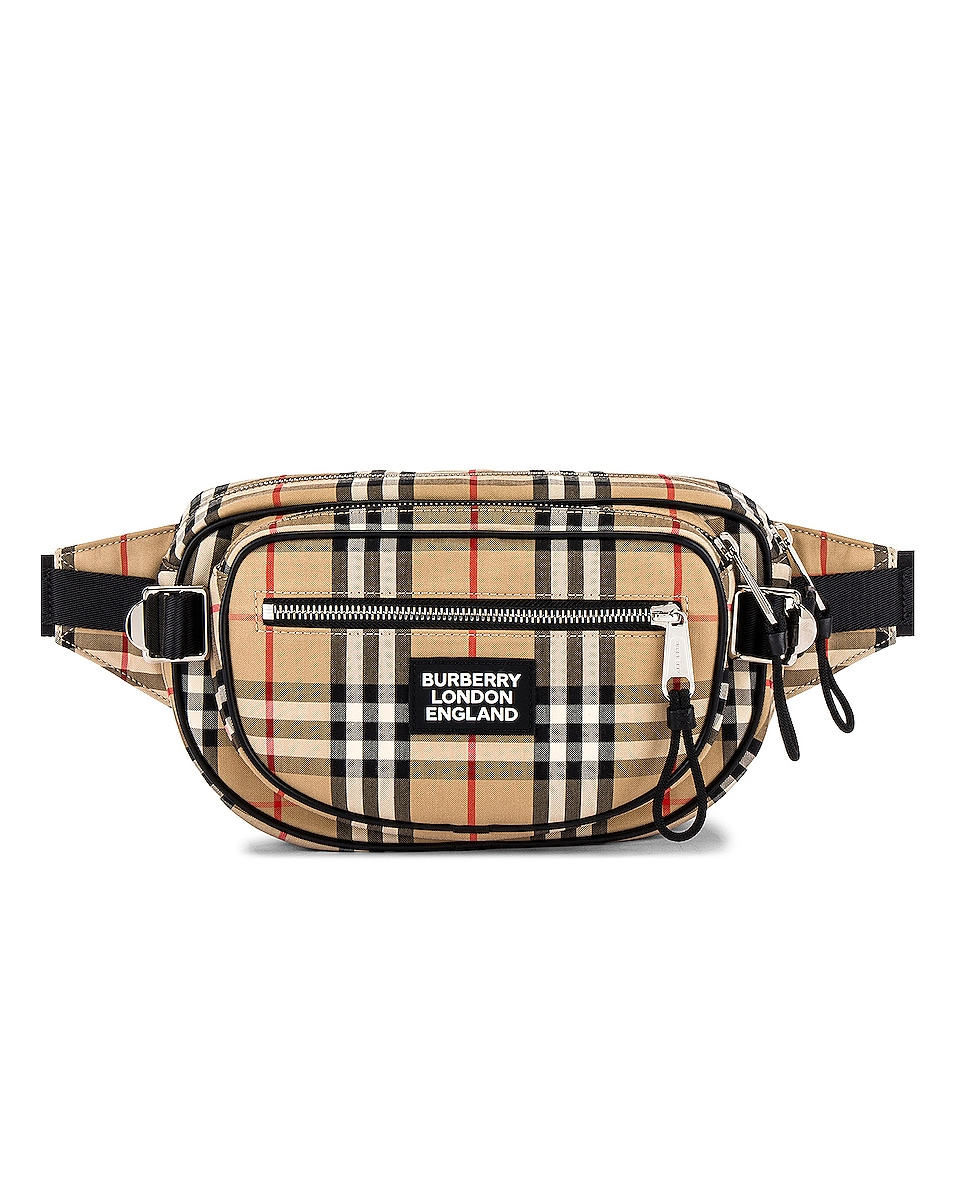 Image 1 of Burberry Medium Cannon Bum Bag in Archive Beige