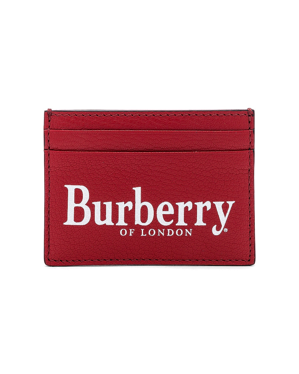 Image 1 of Burberry Sandon Card Holder in Rust Red