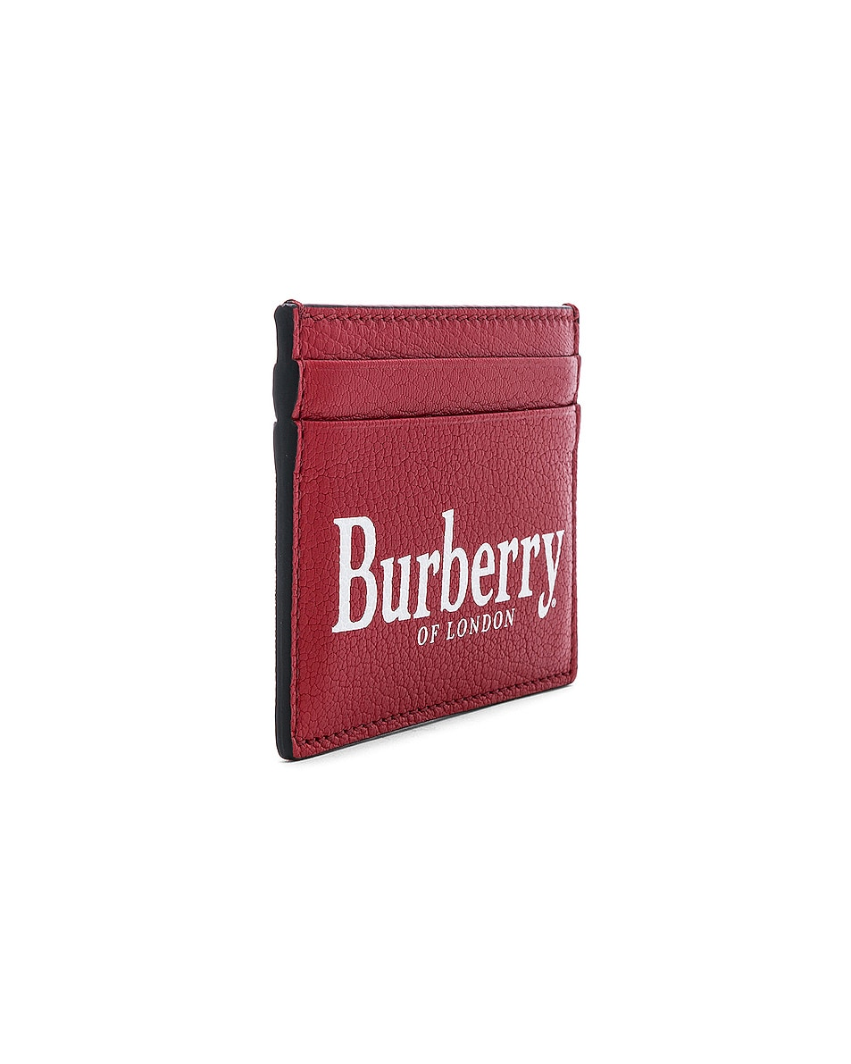 Image 3 of Burberry Sandon Card Holder in Rust Red
