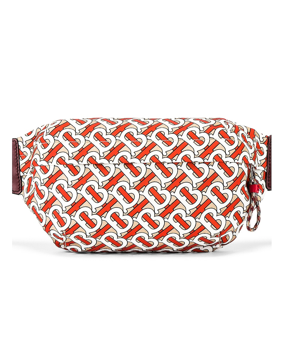 Image 1 of Burberry Sonny Monogram Crossbody Bag in Vermilion