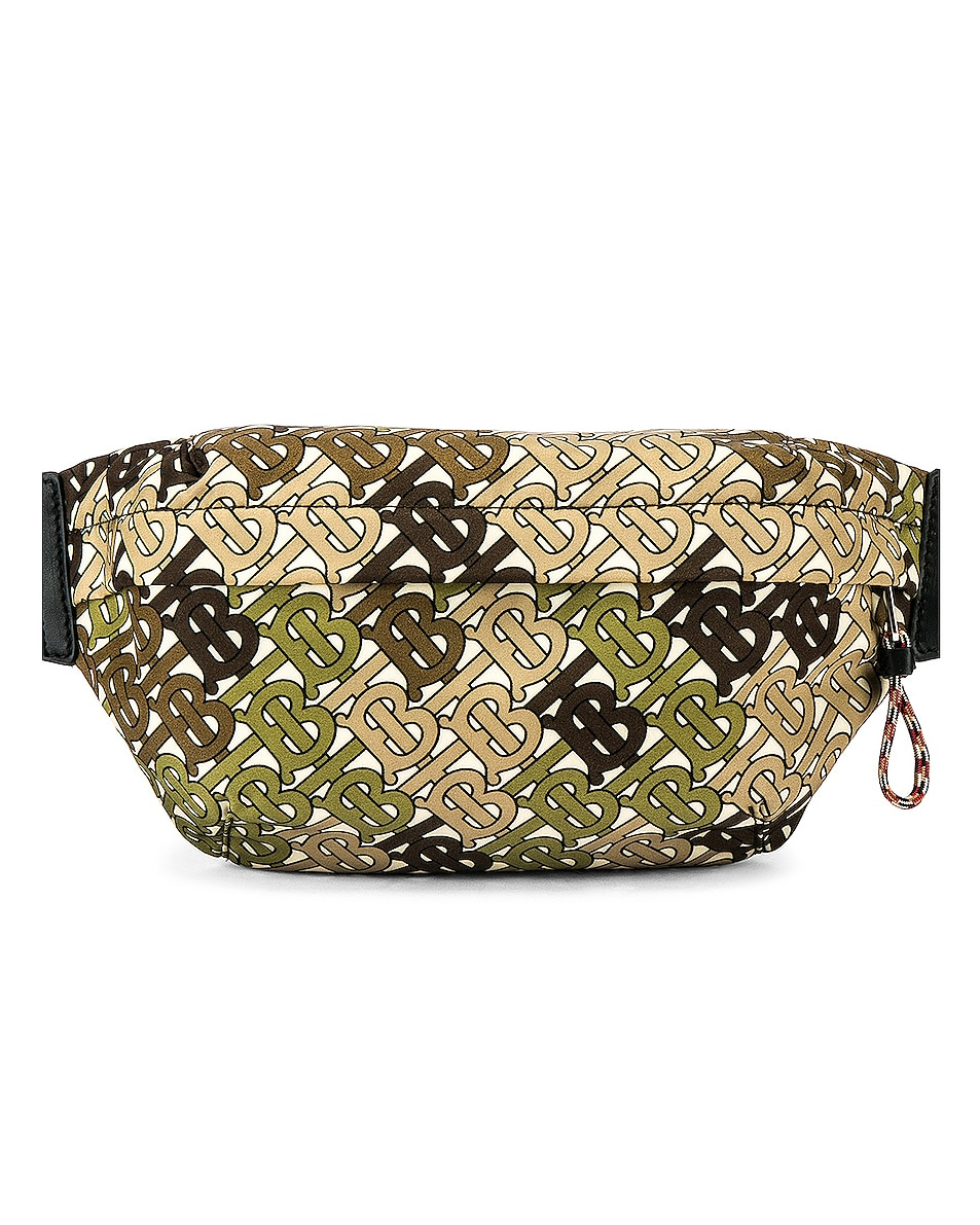 Image 1 of Burberry Sonny Monogram Camo Crossbody Bag in Khaki Green