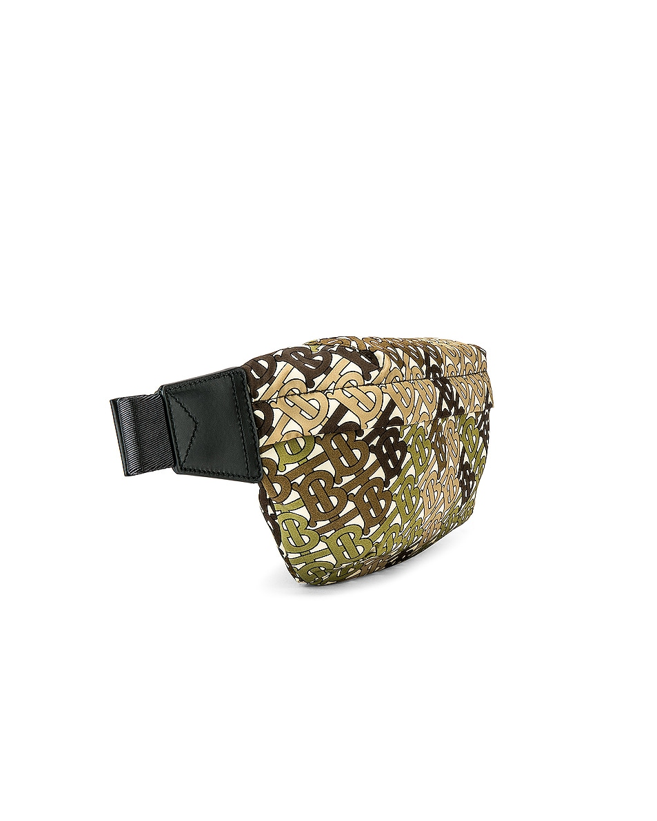 Image 4 of Burberry Sonny Monogram Camo Crossbody Bag in Khaki Green