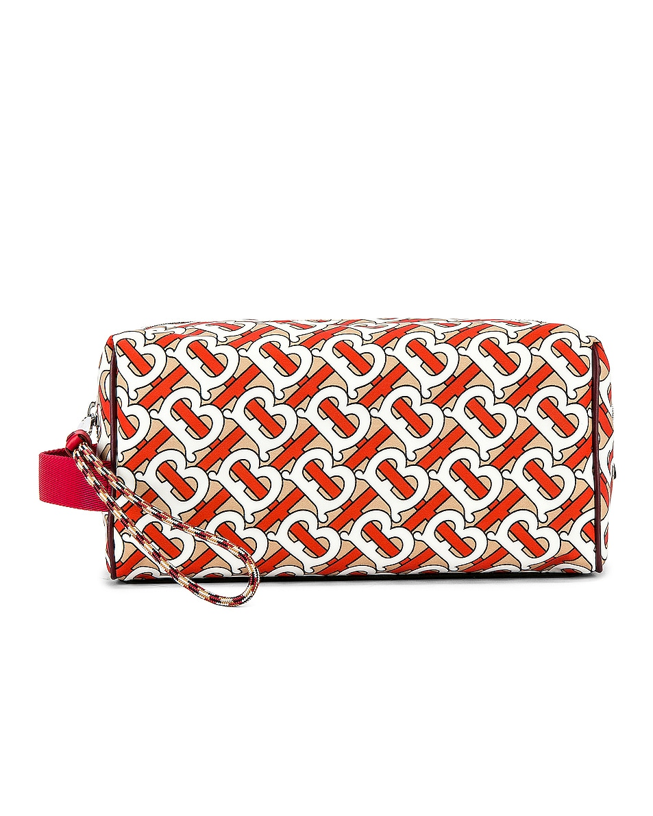 Image 1 of Burberry Monogram Washbag in Vermilion