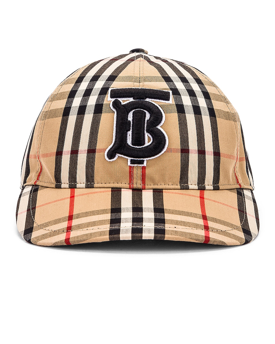 Image 1 of Burberry Vintage Check Baseball Cap in Archive Beige Check