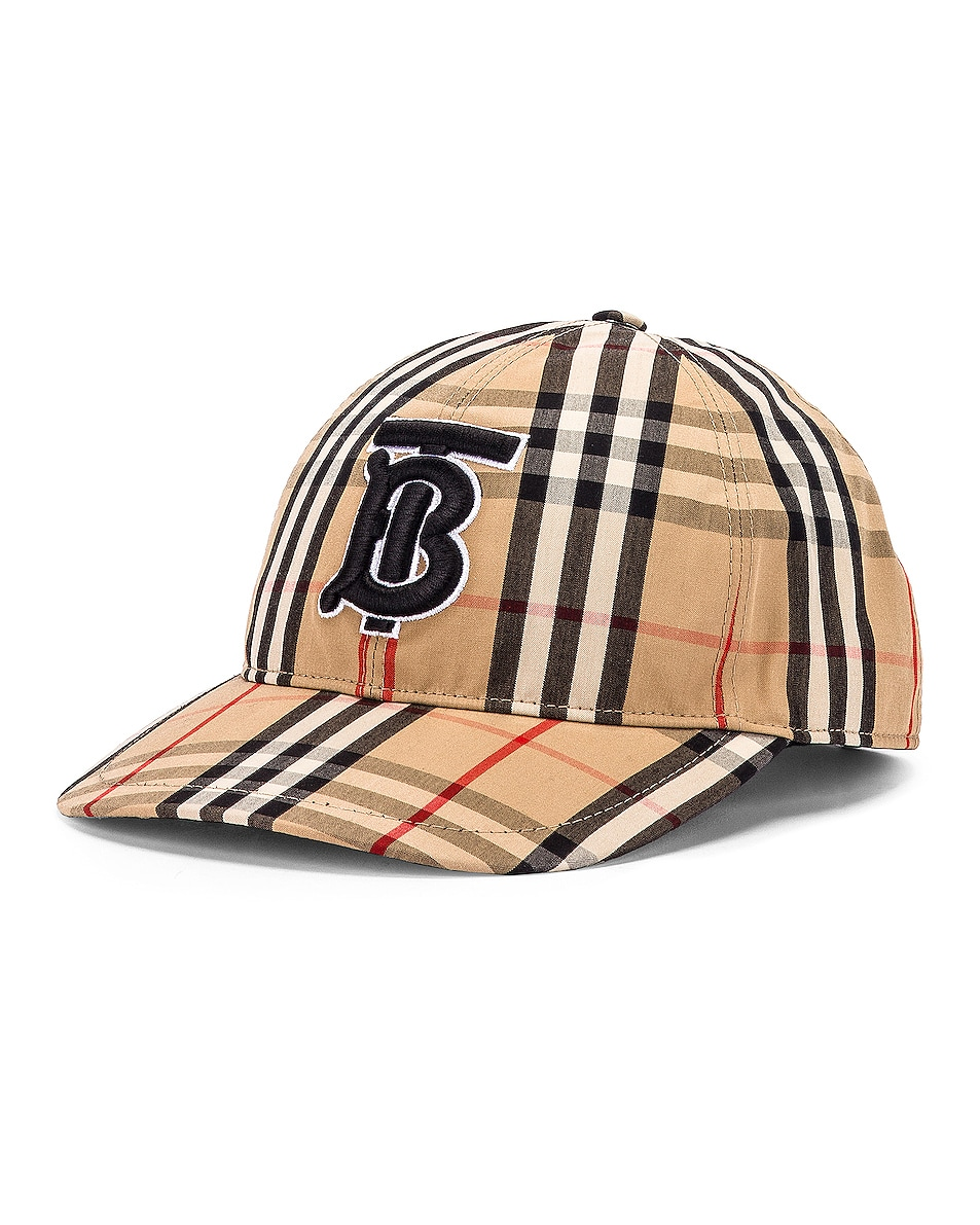 Image 2 of Burberry Vintage Check Baseball Cap in Archive Beige Check