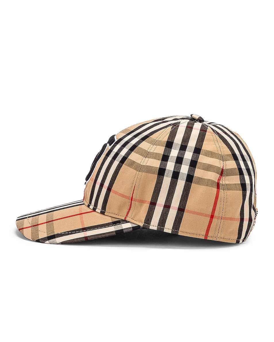 Image 3 of Burberry Vintage Check Baseball Cap in Archive Beige Check