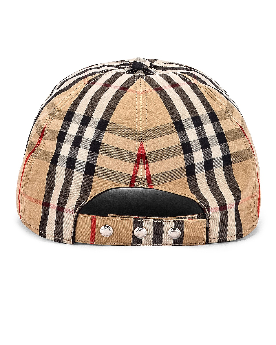 Image 4 of Burberry Vintage Check Baseball Cap in Archive Beige Check
