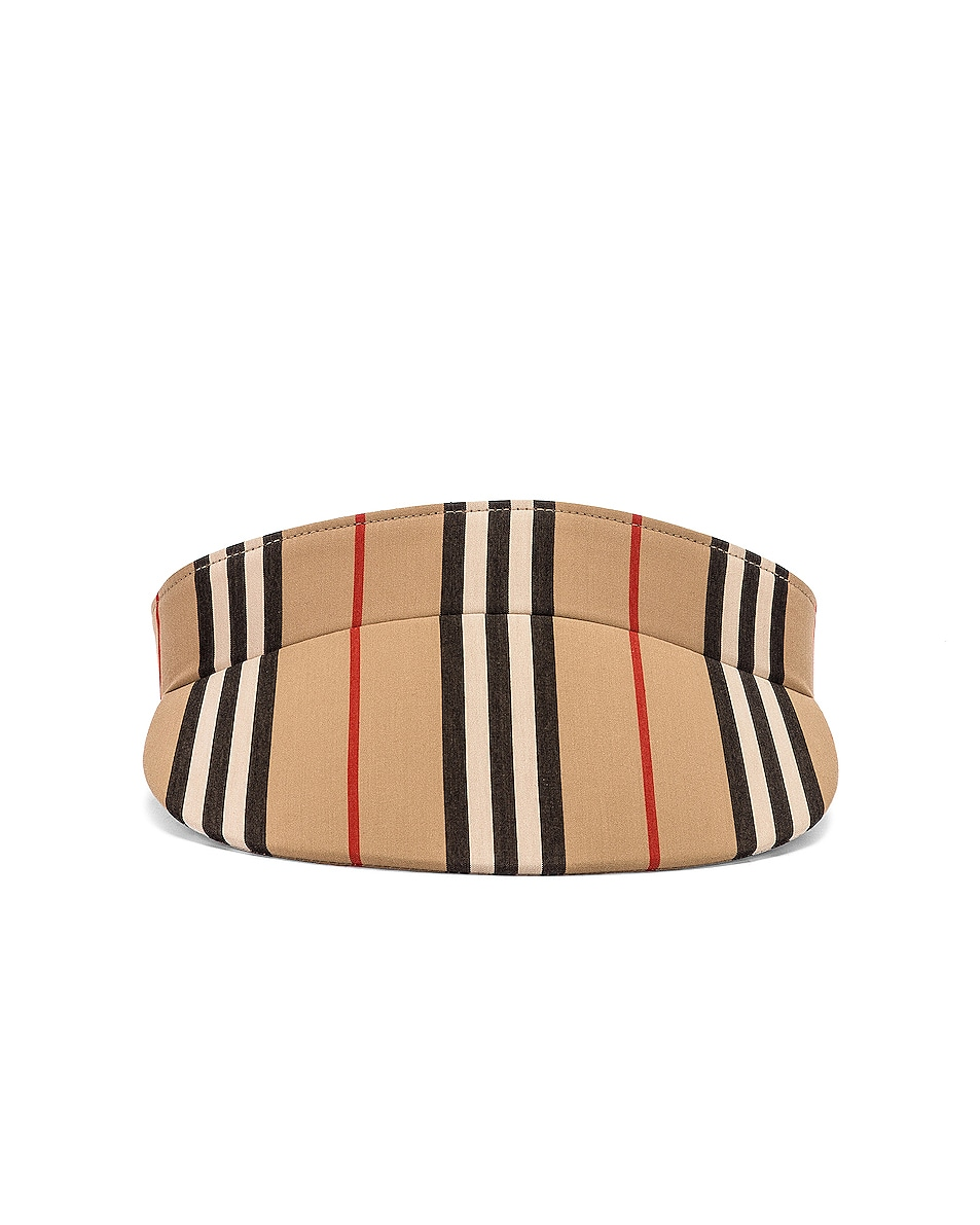 Image 1 of Burberry Stripe Visor in Heritage Stripe