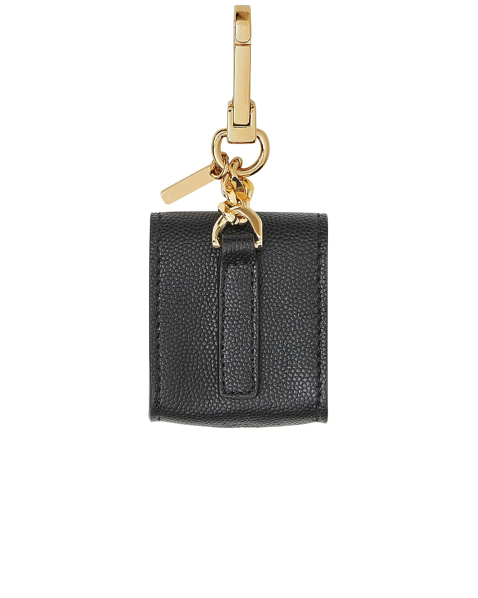 Image 2 of Burberry Leather Earphone Case in Black