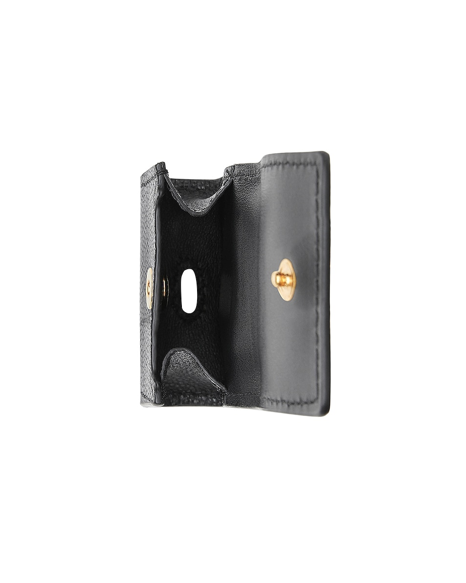 Image 3 of Burberry Leather Earphone Case in Black