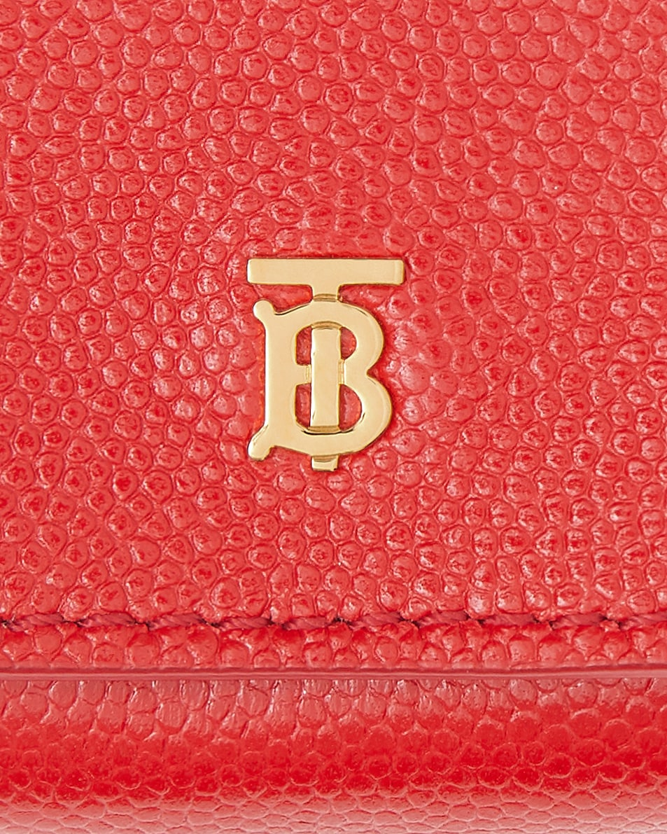 Image 4 of Burberry Leather Earphone Case in Bright Red