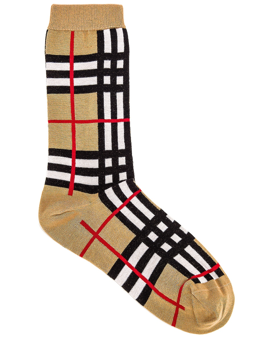 Image 1 of Burberry Classic Check Sock in Archive Beige
