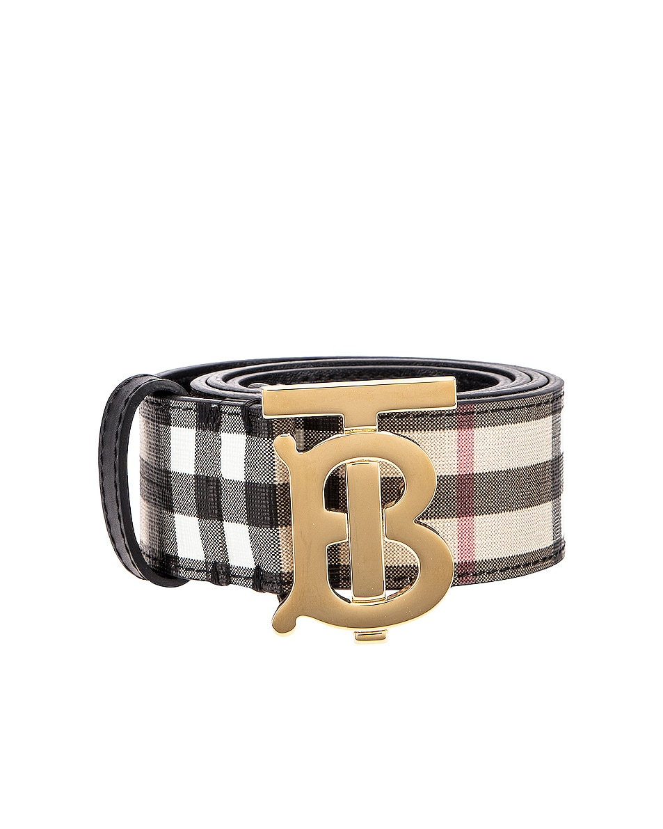 Image 1 of Burberry Vintage Check Belt in Archive Beige
