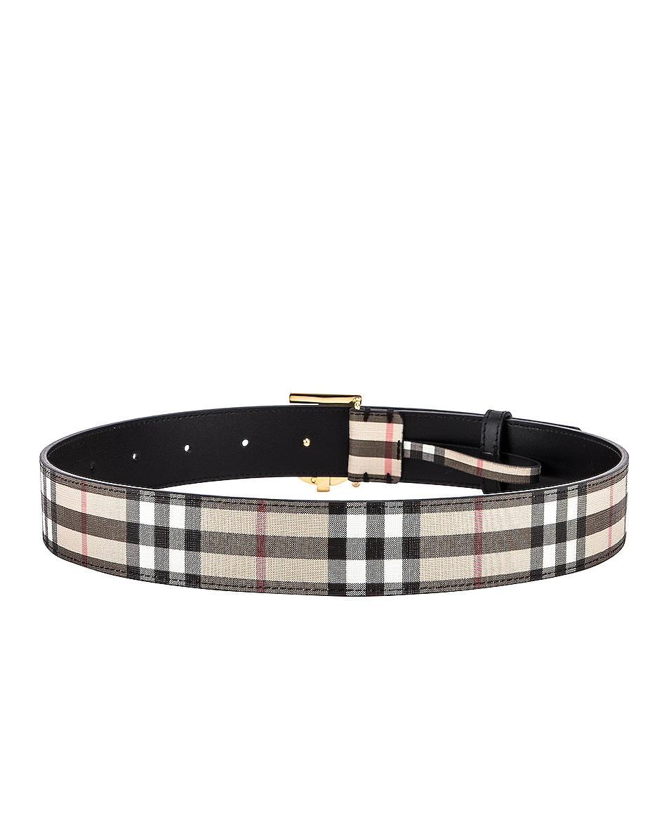 Image 3 of Burberry Vintage Check Belt in Archive Beige