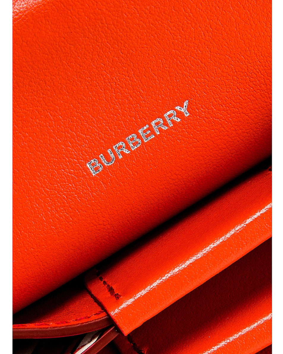 Image 7 of Burberry Jessie Monogram Crossbody Bag in Vermillion