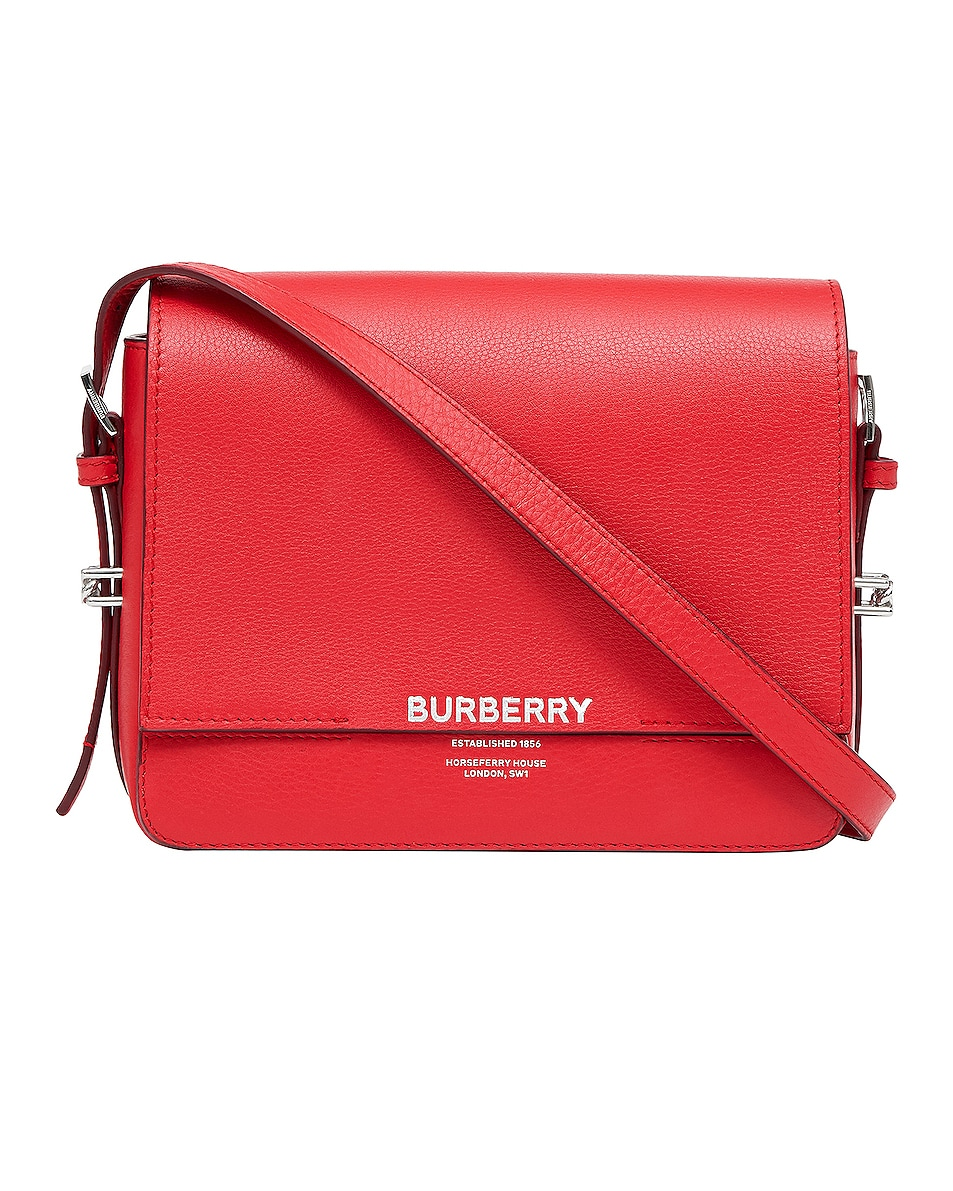 Image 1 of Burberry Small Horseferry Crossbody Bag in Bright Military Red