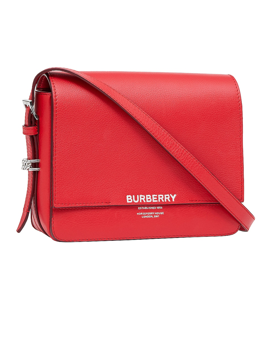 Image 3 of Burberry Small Horseferry Crossbody Bag in Bright Military Red
