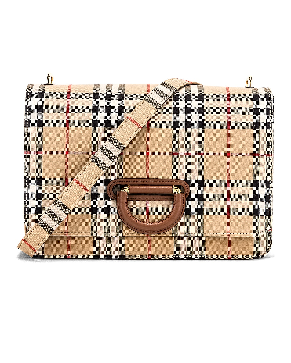 Image 1 of Burberry Medium D Ring Crossbody Bag in Archive Beige