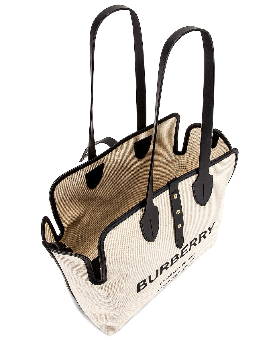 Image 5 of Burberry Soft Belt Tote in Black