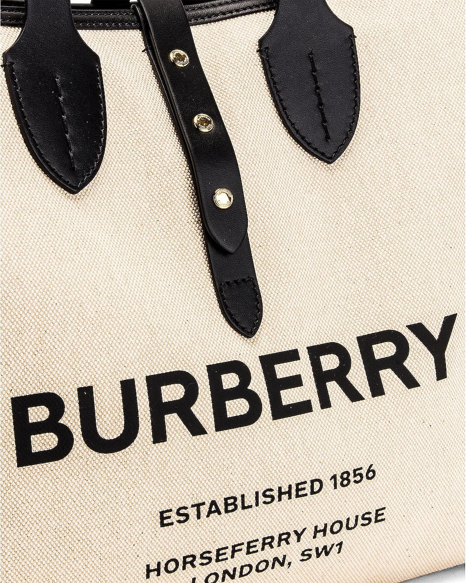 Image 7 of Burberry Soft Belt Tote in Black