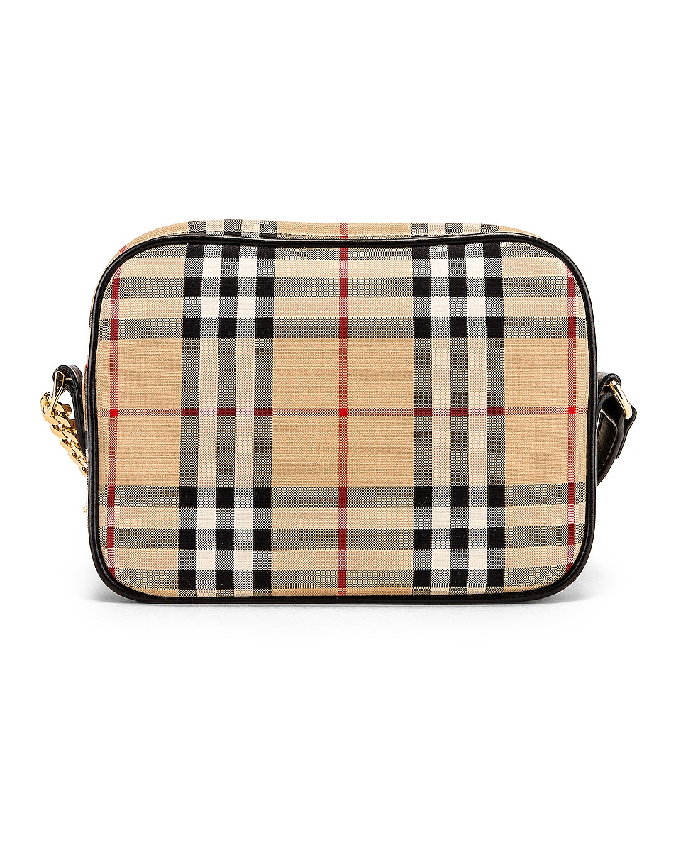Image 3 of Burberry Small Camera Bag in Vintage Check