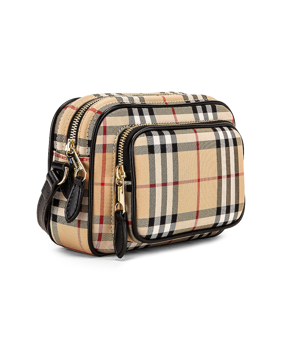 Image 4 of Burberry Small Camera Bag in Vintage Check