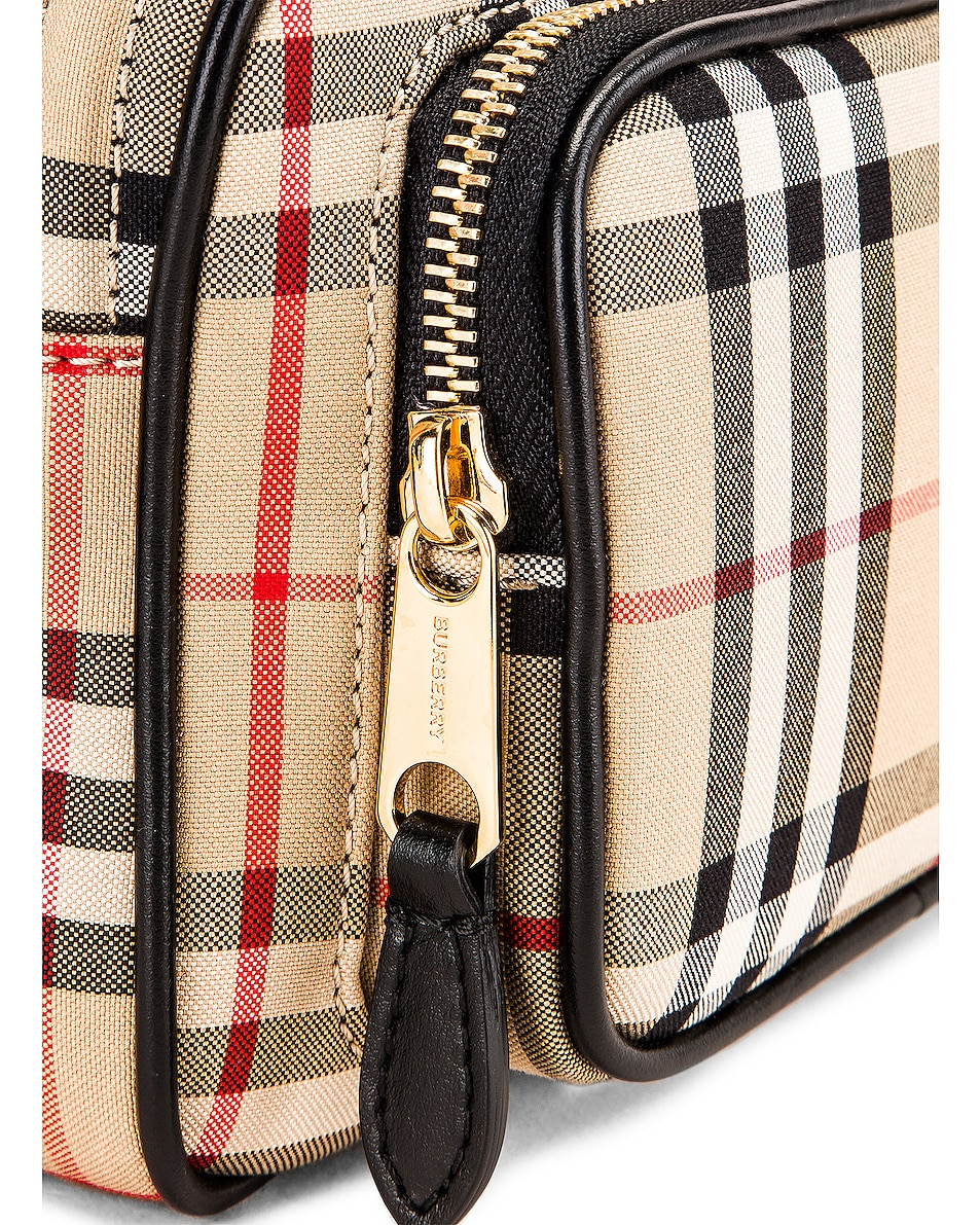 Image 8 of Burberry Small Camera Bag in Vintage Check