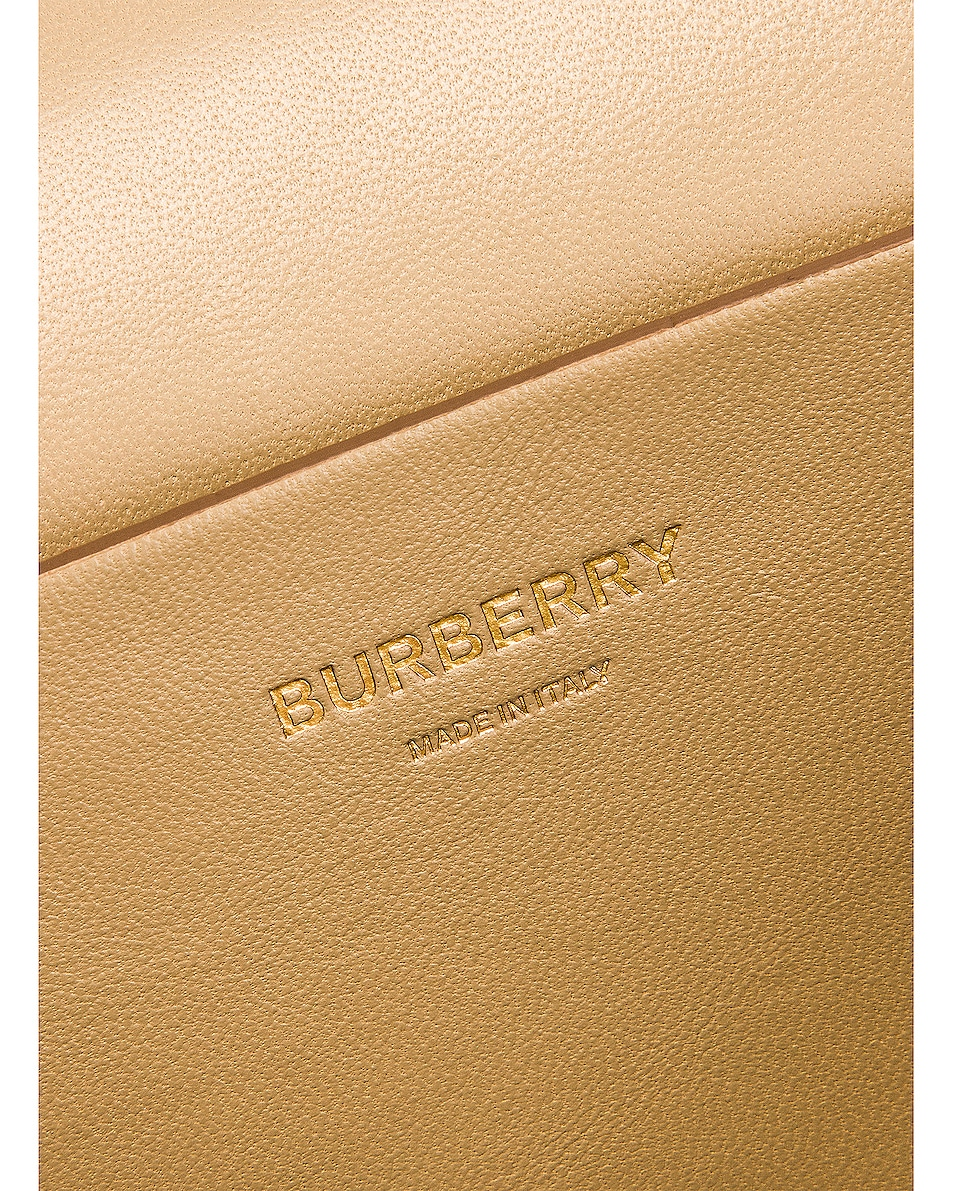 Image 7 of Burberry Small Monogram Quilted Envelope Chain Bag in Honey