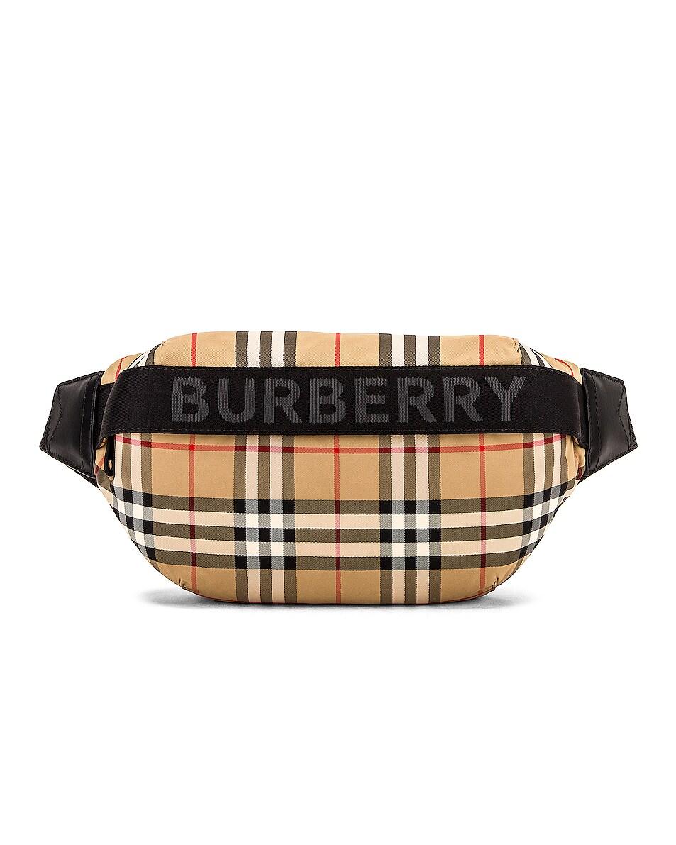 Image 1 of Burberry Medium Sonny Stripe Fanny Pack in Heritage Stripe