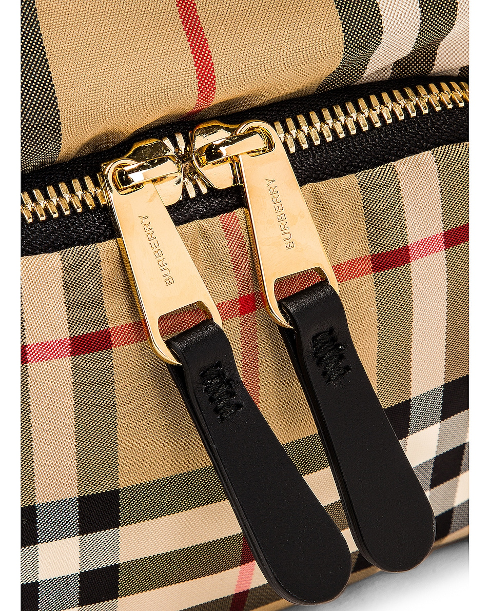 Image 7 of Burberry Small Stripe Backpack in Archive Beige