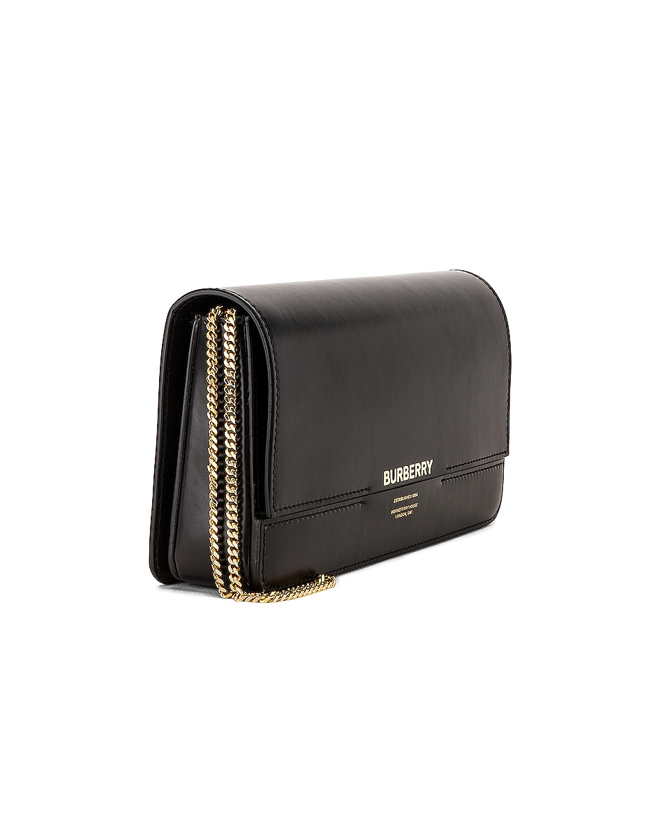 Image 4 of Burberry Horseferry Clutch in Black